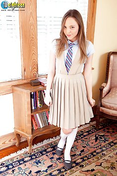 Cute Schoolgirl Gets Naked