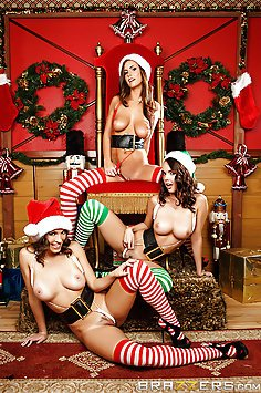 Three Girls Huge Cock Christmas Present