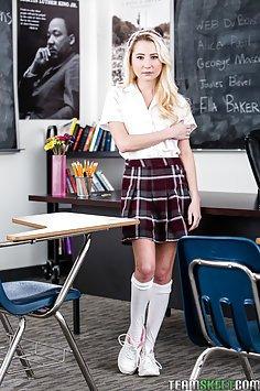 Naive Little Schoolgirl Fucks Teachers Big Black Cock