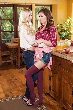 Kitchen Lesbian Surprise