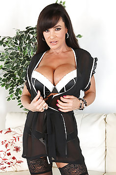 Lisa Ann in Black Stockings