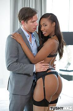 Ebony Hotty Chanell Heart Ass Fucked