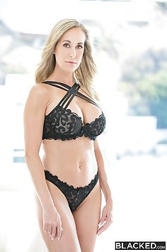 Brandi Love Gets Double Black Cock Fucking